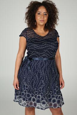 Ausgestelltes Kleid aus Spitze, Marine