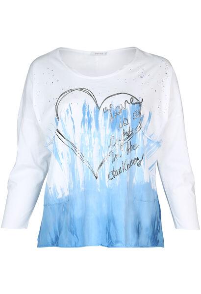 T-Shirt mit Batik-Druck - weiß