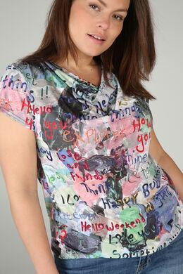 T-Shirt aus kühlem Material, bedruckt, Multicolor