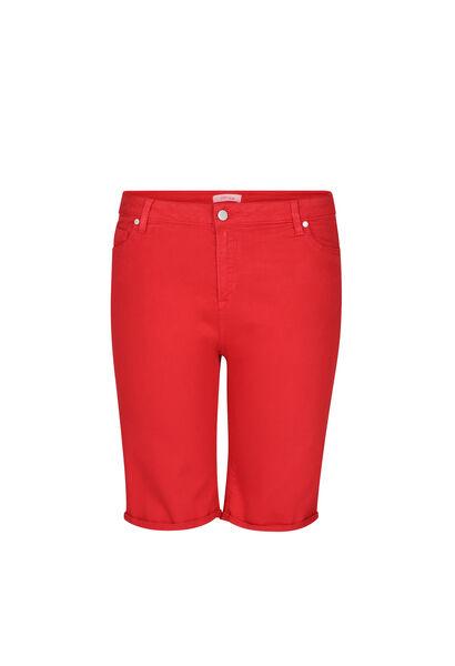 Bermuda-Shorts im 5-Pocket-Stil - Rot
