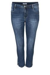 7/8-Slim Jeans mit Perlen-Details