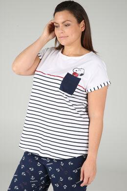 Matrosen-T-Shirt im Snoopy-Look, weiß