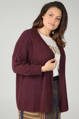 Lockerer Cardigan, Pflaume
